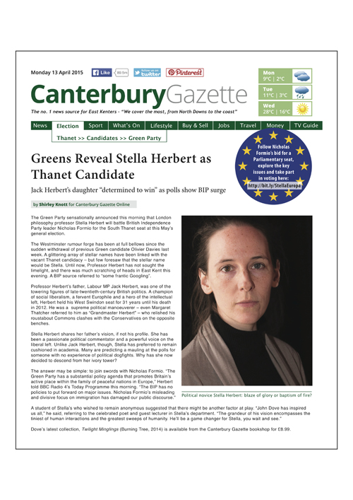 Canterbury Gazette Issue 3 • 13 April 2015