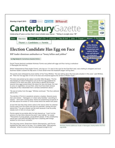 Canterbury Gazette Issue 1 • 6 April 2015