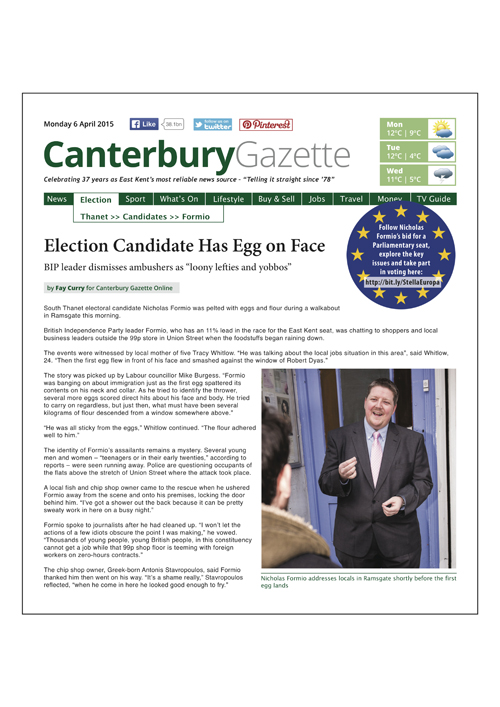 Canterbury Gazette Issue 1 • 6 April 2015