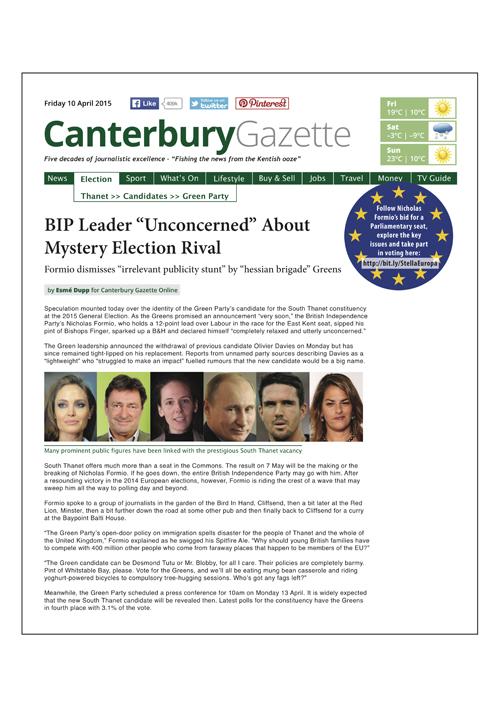 Canterbury Gazette Issue 2 • 10 April 2015