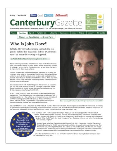 Canterbury Gazette Issue 4 • 17 April 2015