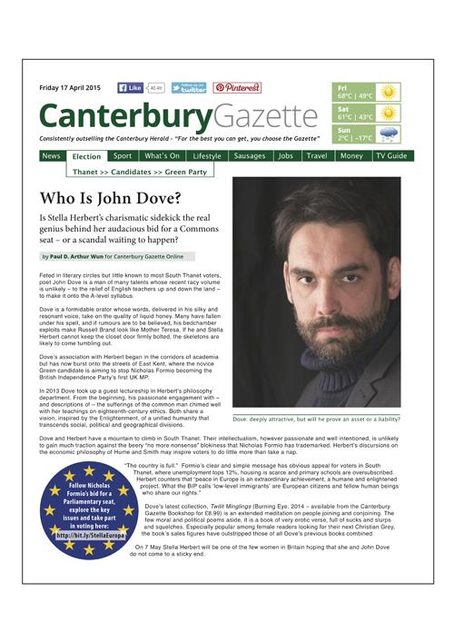 Canterbury Gazette Issue 4 • 17 April 2015