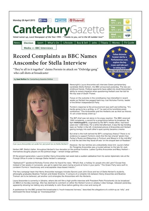 Canterbury Gazette Issue 5 • 20 April 2015